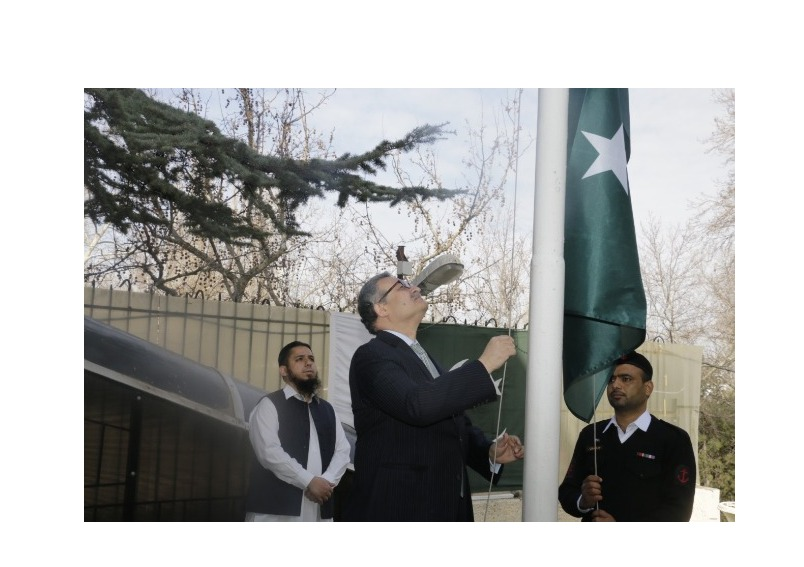 23rd March, 2020: Pakistan Embassy Ankara holds flag-hoisting ceremony on the occasion of the National Day of Pakistan.