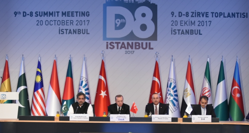 Prime Minister of Pakistan participates in 9th D-8 Summit held in Istanbul on 20 October 2017