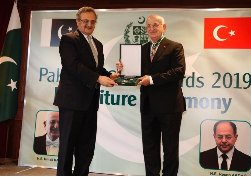 Investiture Ceremony for Conferment of Pakistan's Civil Awards on Turkey's leading personalities held in Ankara