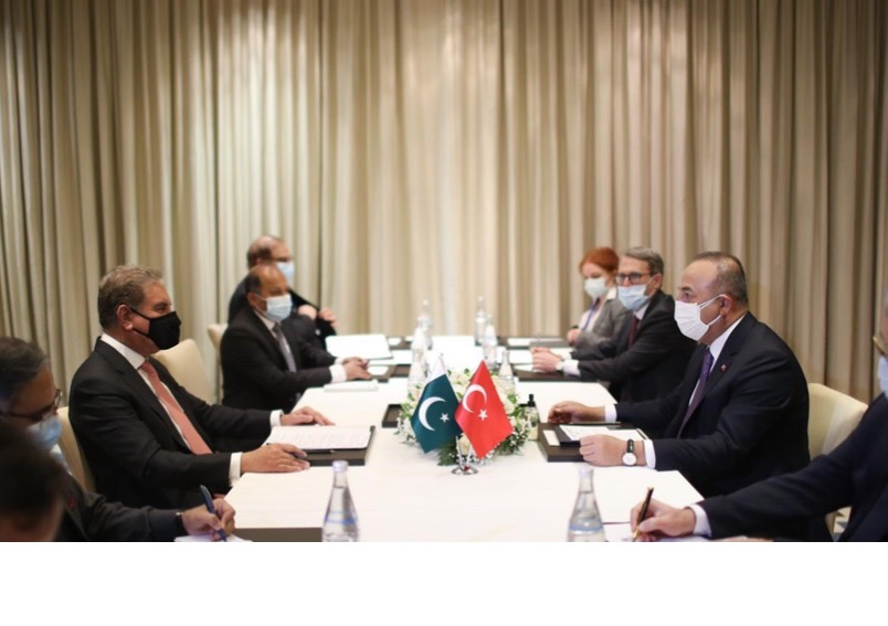 Foreign Minister's meeting with Turkish Foreign Minister on the sidelines of 9th Ministerial Conference of the Heart of Asia – Istanbul Process 29th March 2021 – Tajikistan