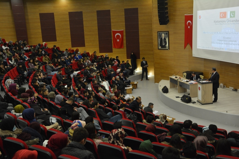"Pakistan Ambassador delivers talk on ""Importance of Jerusalem for the Islamic World and Role of Pakistan and Turkey"" at Kastamonu University"