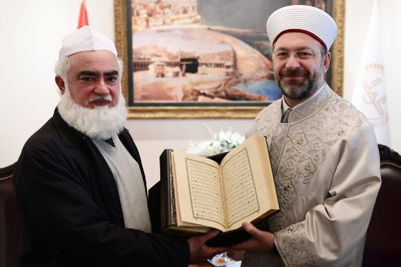 Pakistan's Minister of State for Religious Affairs meets President of Turkish Diyanet
