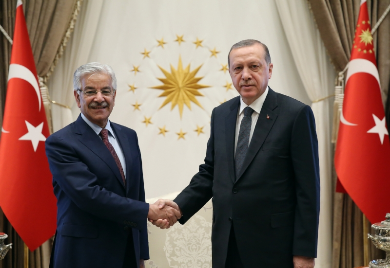 Khwaja Asif visits Turkey and holds talks with Turkish leadership