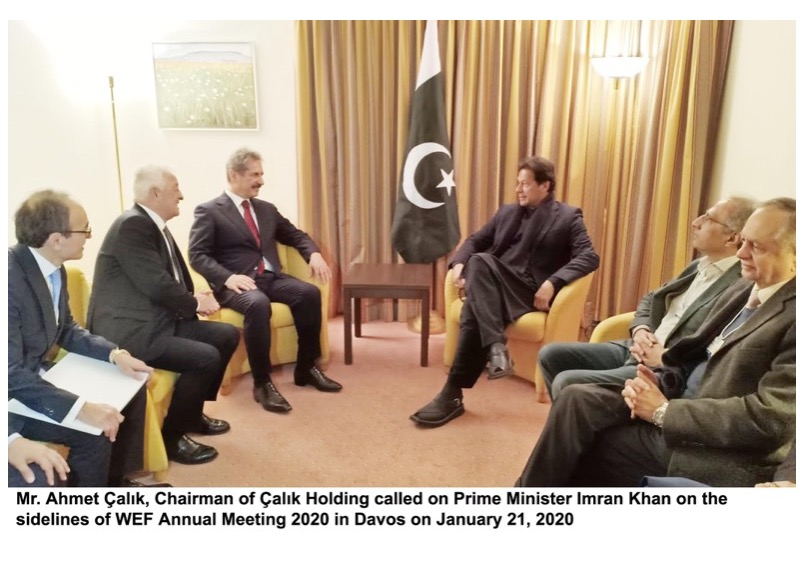 Turkish conglomerate head calls on Prime Minister of Pakistan on the sidelines of WEF 2020