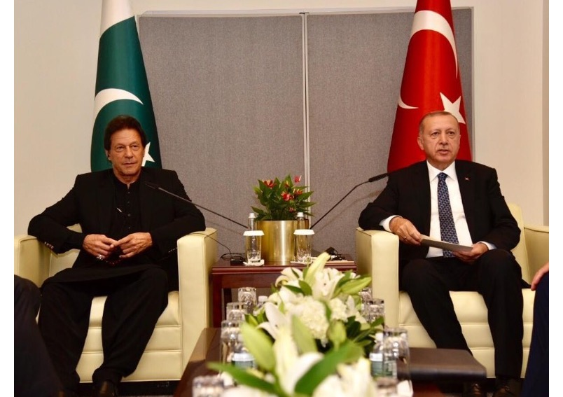 Pakistan Prime Minister's meeting with Turkish President Recep Tayyip Erdogan on sidelines of UNGA