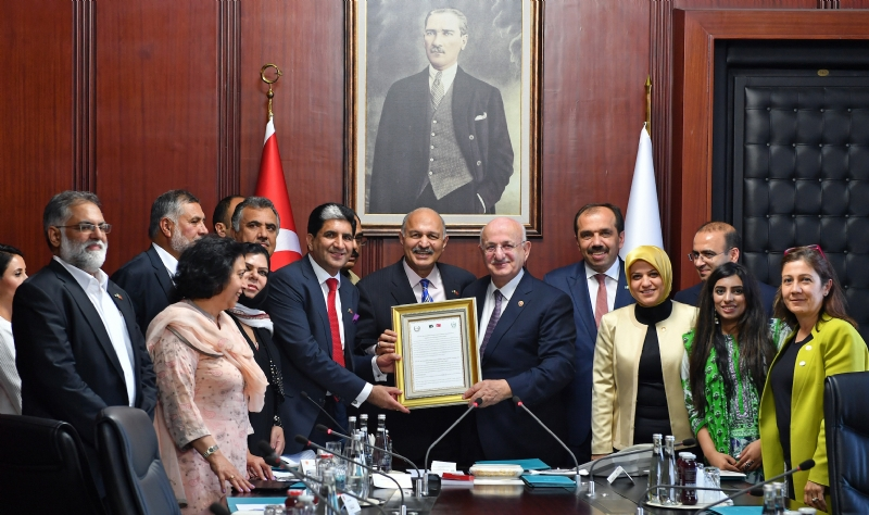 Turkish Speaker thanks Pakistan Parliament for support