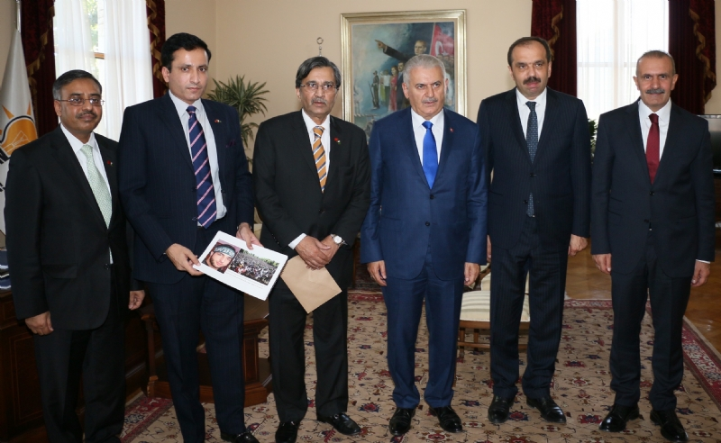 Prime Minister's Special Envoys brief Turkish Prime Minister on Kashmir; convey gratitude for Turkey's abiding support