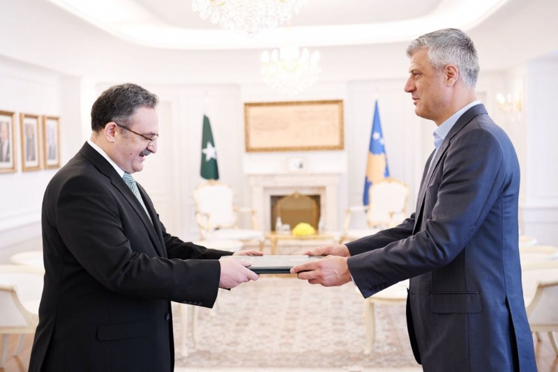 Pakistan's Envoy to Republic of Kosovo presents his credentials