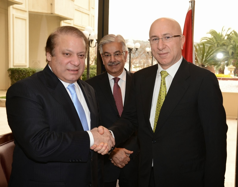 Prime Minister of Pakistan meets with top Turkish businessmen/investors