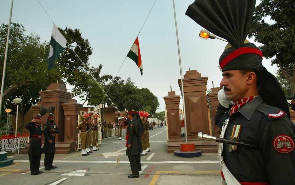 Lahore - Wahgah Border Flags Ceremony